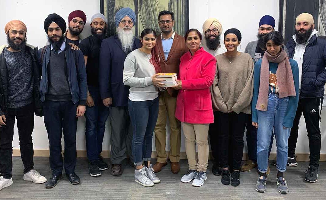 Punjabi University scholars welcomed by SEC students